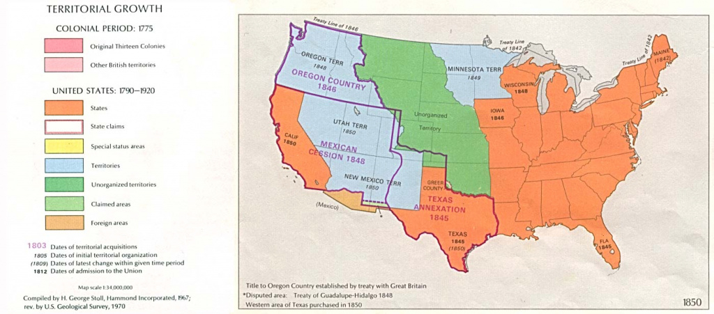 United States Historical Maps - Perry-Castañeda Map Collection - Ut throughout Map Of United States 1845