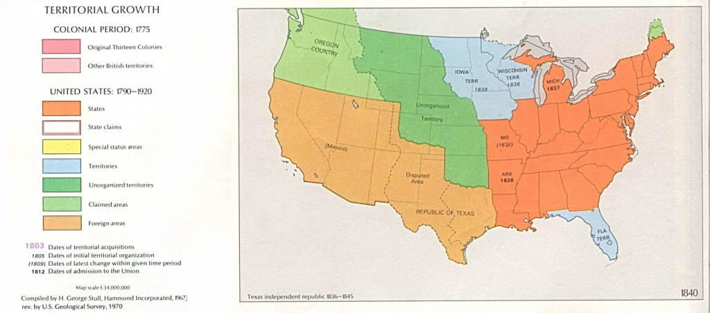 United States Historical Maps - Perry-Castañeda Map Collection - Ut within Outline Map The States Choose Sides