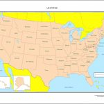United States Labeled Map In A Labeled Map Of The United States