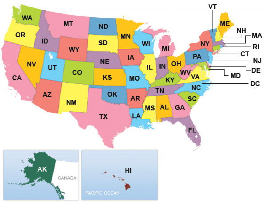 United States: List Of State Abbreviations And Capitals pertaining to Usa Map With States Capitals And Abbreviations