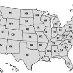 United States Map And A List Of Us States Pertaining To Printable 50 States Map