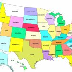 United States Map And State Capitals New United States America Intended For Map Of The United States With Capitols