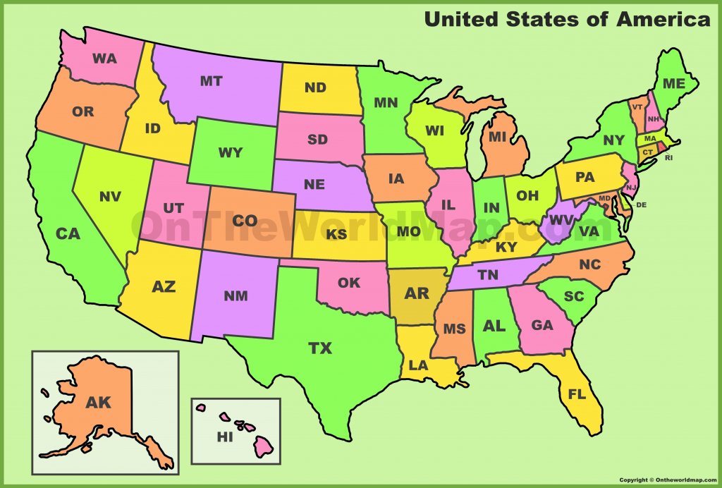 United States Map And States And Capitals Save Us Map Abbreviations in 50 States Map With Capitals