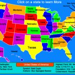 United States Map – Click And Learn « For Interactive State Map