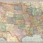 United States Map. Die Cut On State Lines.   David Rumsey Historical Intended For Us Map With State Lines