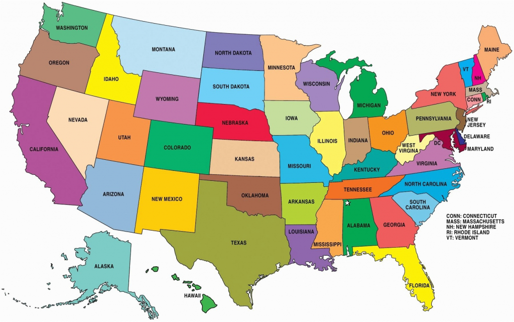 United States Map Names And Capitals Valid United States Map within Map Of Usa Showing States