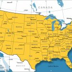 United States Map   Nations Online Project Regarding Us Map With State Borders