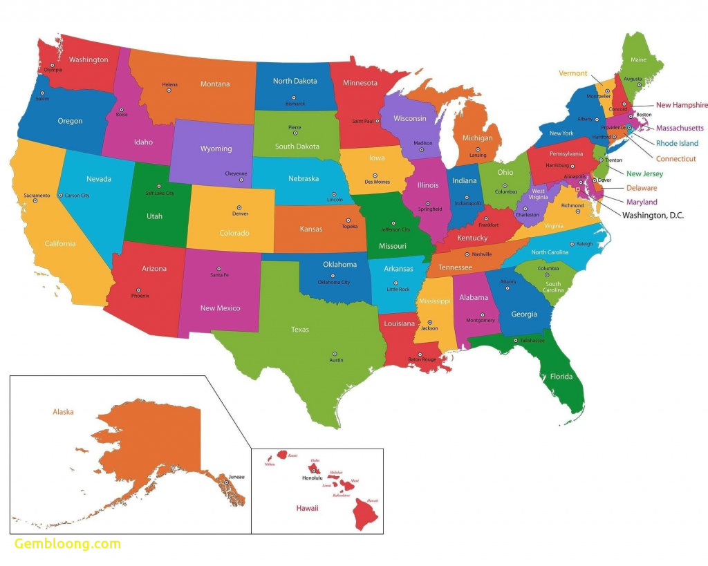 United States Map Phoenix Arizona Best United State Map And Capitals regarding United States Of America Map With Capitals