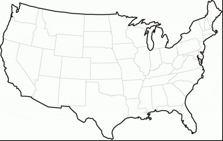 Us Map With State Lines