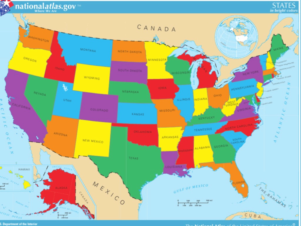 United States Map | Social Studies | Showme throughout Show Me A Map Of The United States Of America