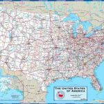 United States Map With Cities Regarding Usa Map With States And Cities