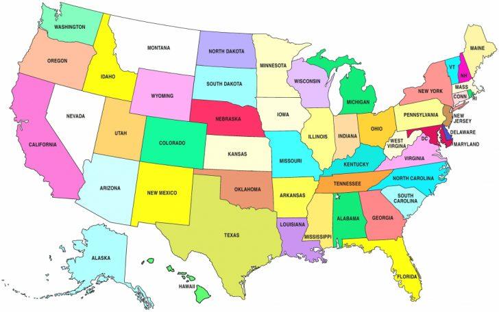 Usa Map With States Capitals And Abbreviations