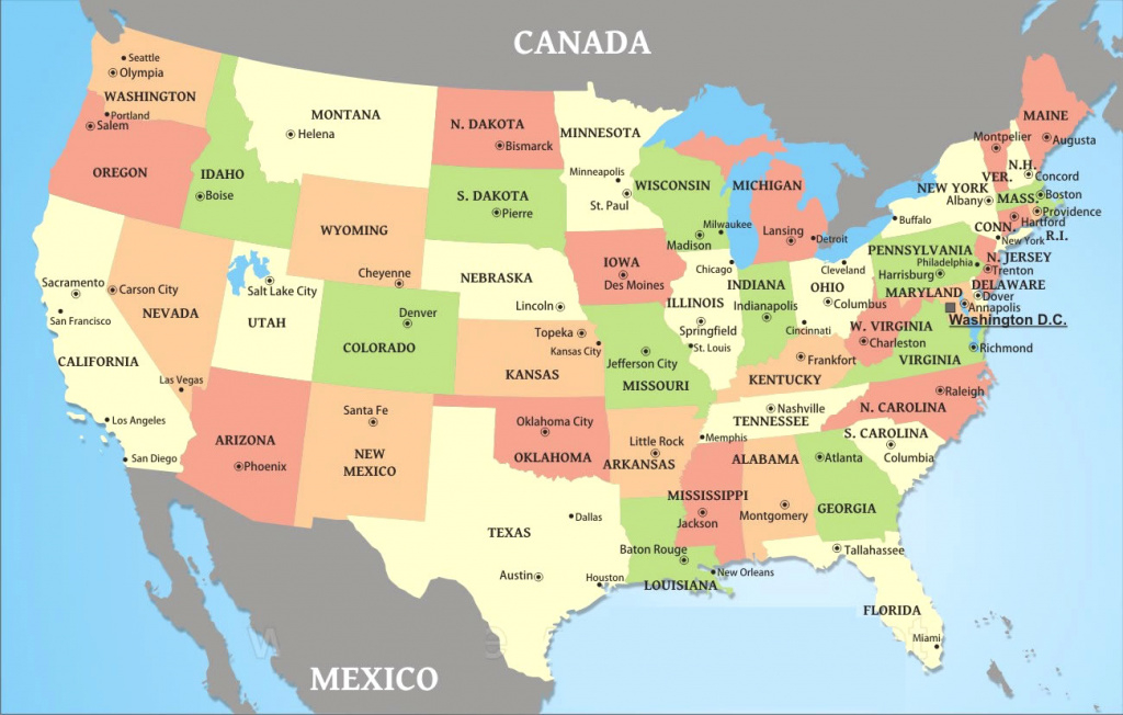 United States Map With Us State Capitals And Major Cities World Maps with regard to World Map With States And Capitals