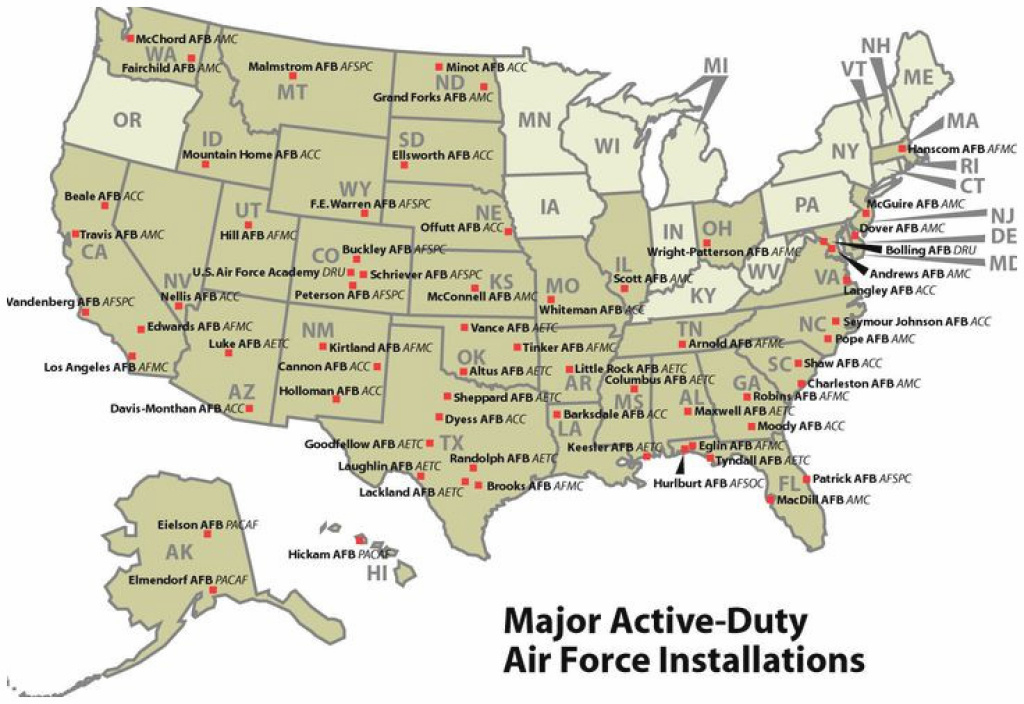 United States Military Bases Map | Galloforoakland in Military Bases United States Map