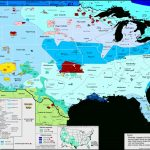 United States Of America / Linguistic Map With United States Accent Map