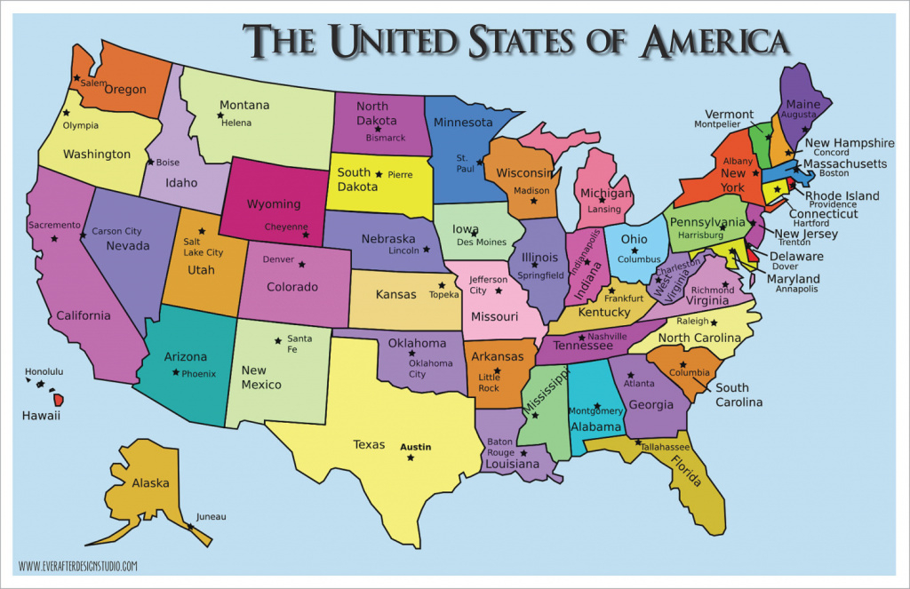 United States Of America : States & Capitals | Know-It-All regarding United States Of America Map With Capitals
