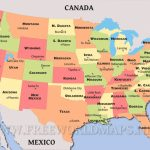 United States Political Map With United States Of America Map With Capitals