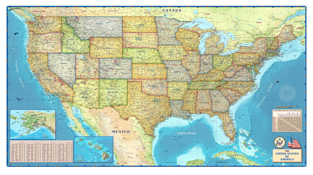United States Political Wall Mapcompart Maps inside United States Political Map