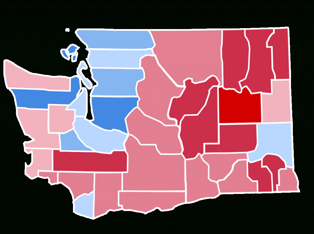 United States Presidential Election In Washington (State), 2016 intended for 2016 Electoral Map By State