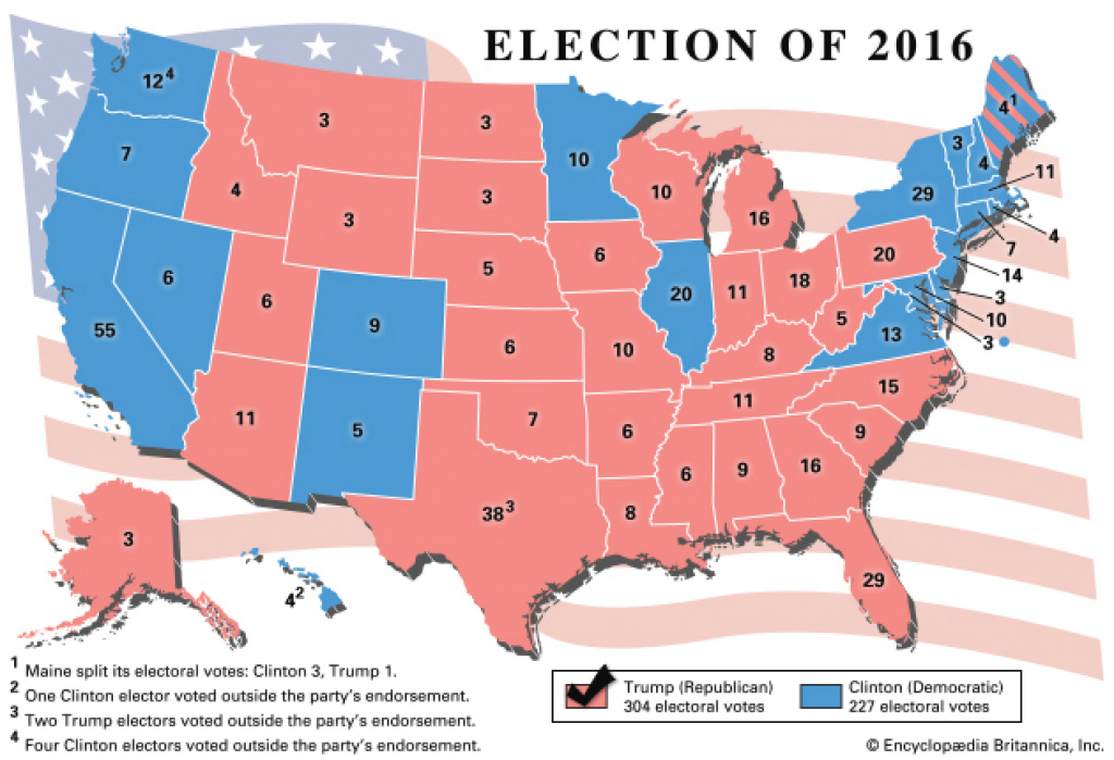 United States Presidential Election Of 2016 | United States inside 2016 Electoral Map By State