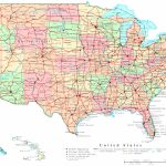 United States Printable Map for Map Of 50 States And Major Cities