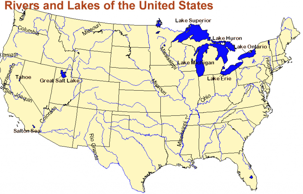 United States Rivers And Lakes Map And Travel Information | Download with regard to United States Map With Rivers And Lakes And Mountains