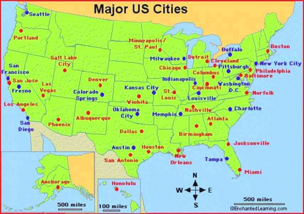 United States Road Map Printable Of Usa With And Cities – Peterbilt within Map Of Eastern United States With Cities