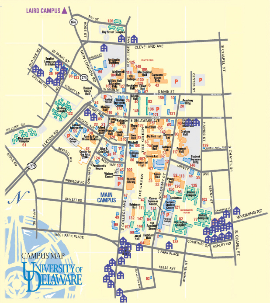 University Of Delaware Property Directory with regard to Delaware State University Campus Map