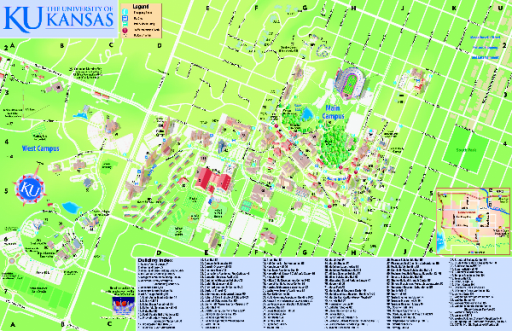 University Of Kansas - Main Campus Map - Lawrence Ks • Mappery in Wichita State University Campus Map Pdf