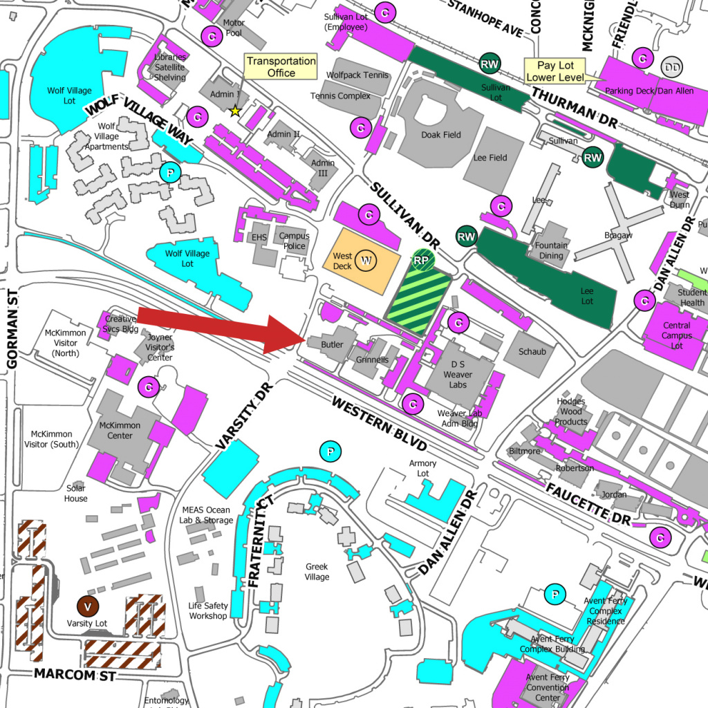 Untitled Document regarding Nc State Parking Map