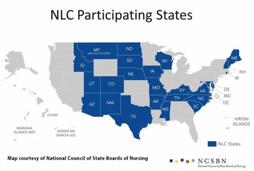 Updated Map: Enhanced Nursing Licensure Compact (Enlc) Jan. 2018 pertaining to Compact State Nursing Map