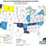 Updated State And Local Option Sales Tax   Tax Foundation Throughout Us State Tax Map