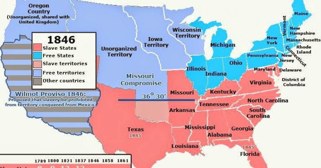 Upfront With Ngs: Slave And Free States (Us) Through History for Slave States And Free States Map
