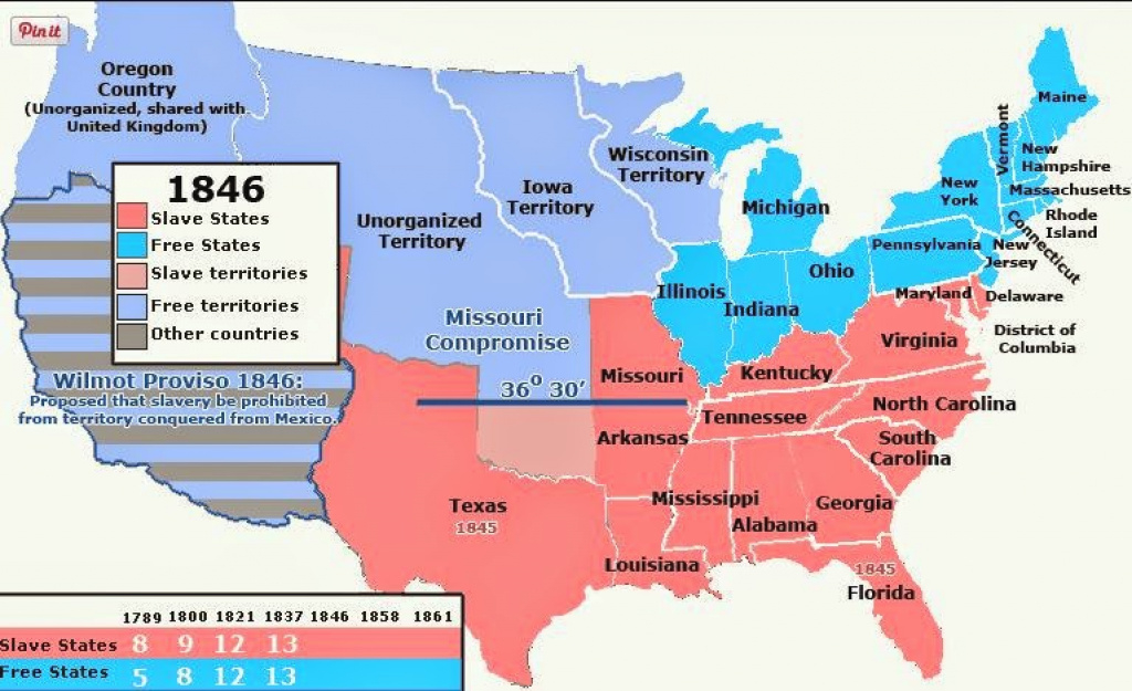 Upfront With Ngs: Slave And Free States (Us) Through History with regard to Map Of Slavery In The United States