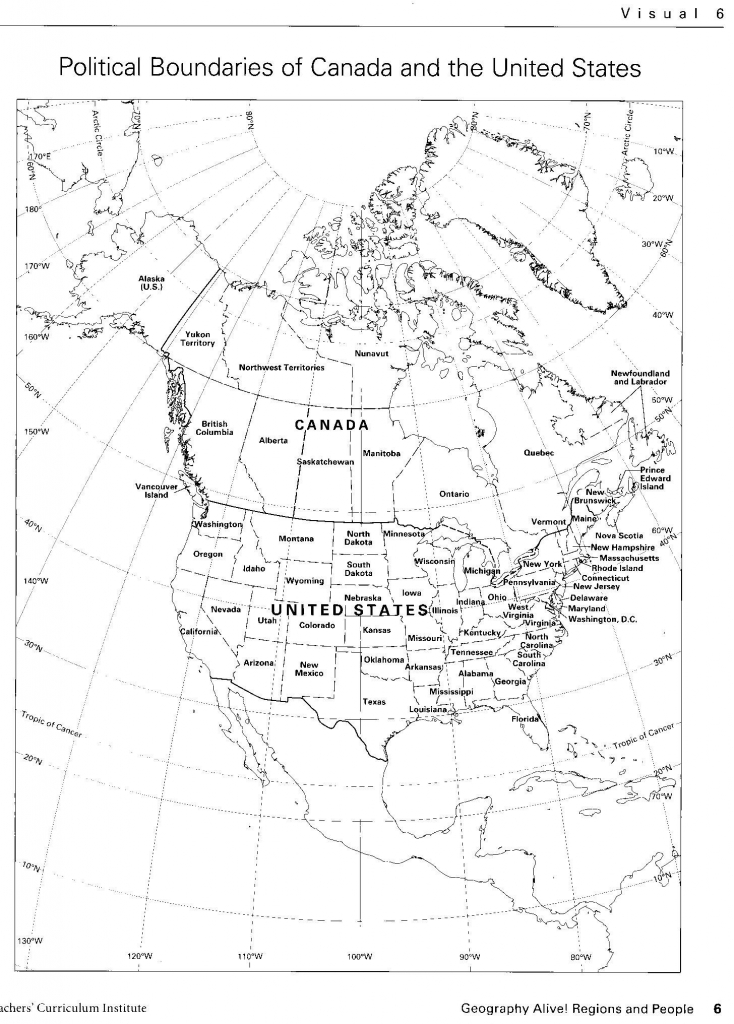 Us And Canada Physical Features Map Quiz Save The United States And inside United States Physical Map Worksheet