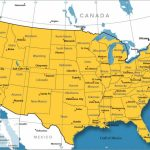 Us Canada Map With Cities   Cyndiimenna For United States Canada Map