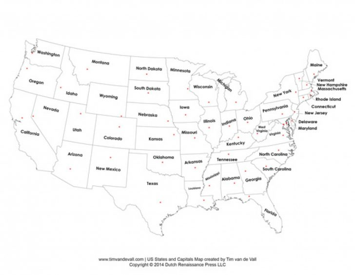 Us States And Capitals Map Quiz