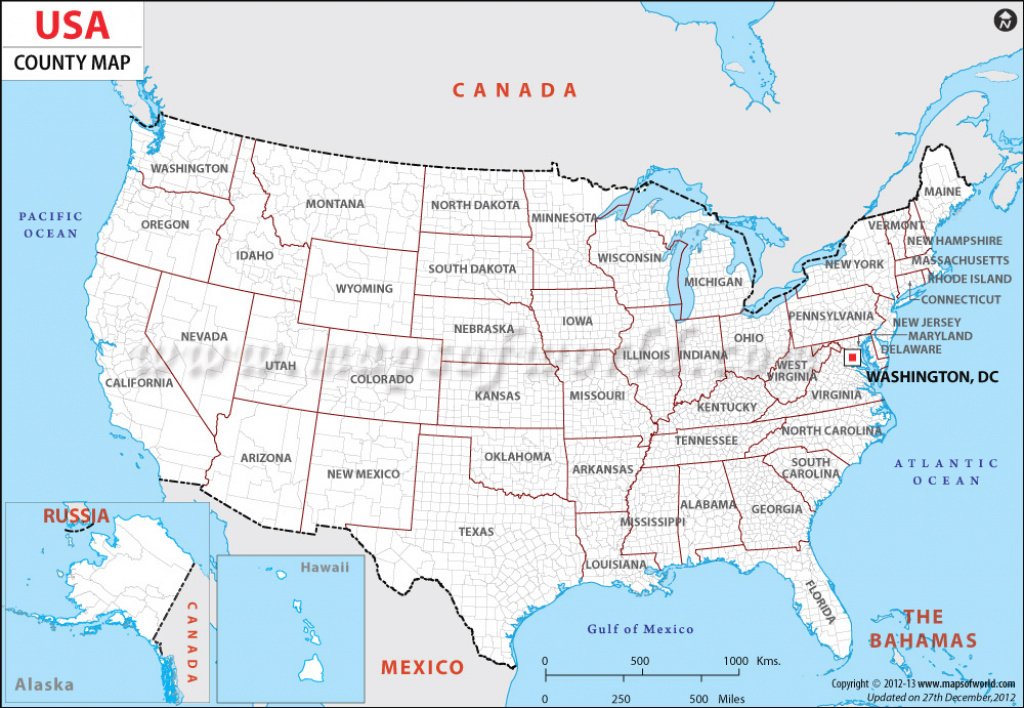 Us County Map | Maps Of Counties In Usa with regard to United States Map With County Names
