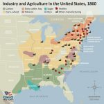 Us Industrial Revolution Map Map Of Industry And Agriculture In The Within United States Industry Map