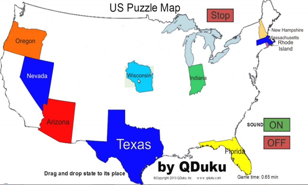 Us Map Game Drag States Maps Of Usa At For Us Map Game Drag States regarding Us Maps With States Games