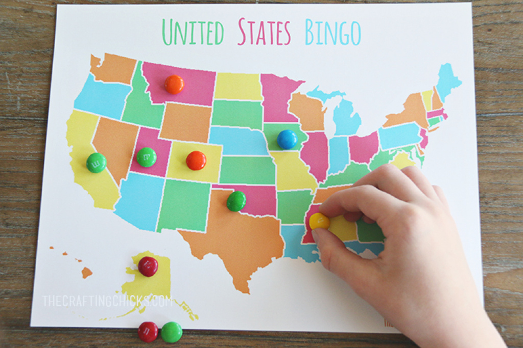 Us Map Game {Free Printable Us State Map} | Skip To My Lou for How To Learn The 50 States On A Map