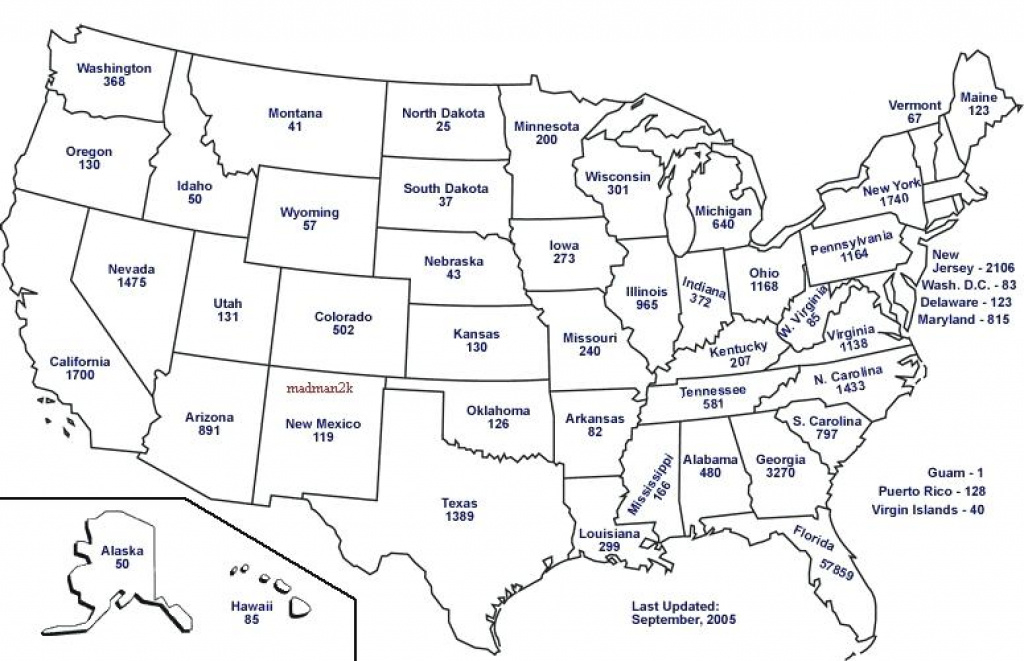 Us Map Of States And Capitals State In With United Quiz Printable throughout Us Map With State Capitals