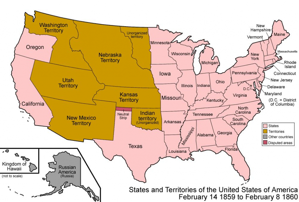 Us Map Of States Awesome File United States 1859 1860 Wikimedia Mons intended for Blank Map Of United States In 1860