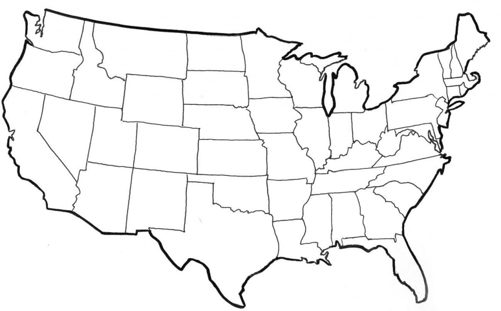 Us Map Outline Image - Bino.9Terrains.co within State Outline Map