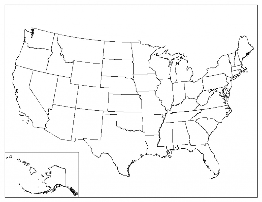 Us Map Template Printable - Bino.9Terrains.co inside Empty 50 States Map