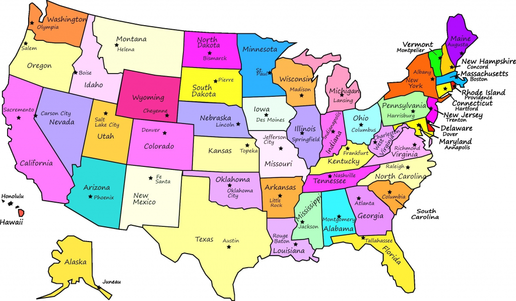 Us Map With Full State Names Us Map With State Names Map415 New Us regarding Map With State Names