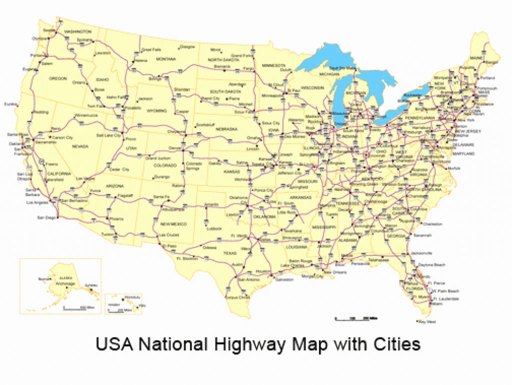 Us Map With Highways States And Cities Pict Us Map Major Cities Pdf pertaining to Usa Map With States And Cities Pdf