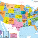 Us Map With Major Cities With Map Of Usa Showing States