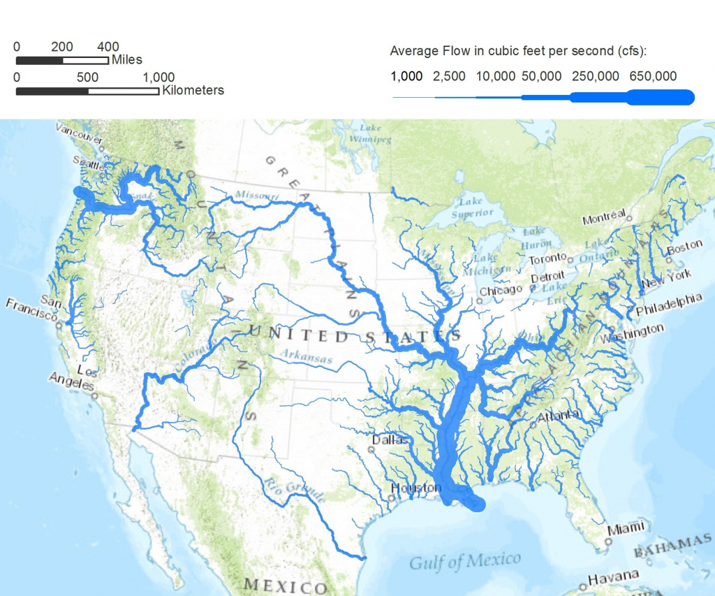 Us Map With Rivers And Lakes Map City Us Map Rivers And Mountains regarding United States Map With Rivers And Lakes And Mountains