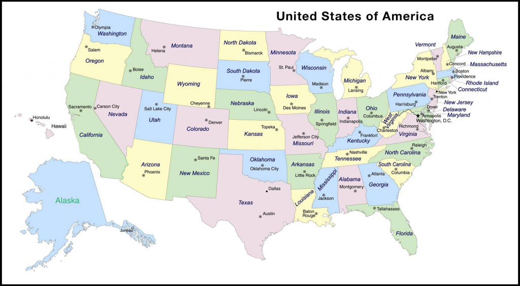 Us Map With State Capitals Best Us State Map Quiz – Map Of The World inside Map Quiz Usa States And Capitals